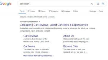 Carexpert.com.au Google search results